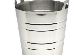 S/St.Wine Bucket With Integral Handles
