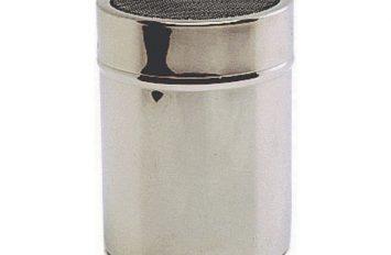 S/St.Shaker with mesh top.(Plastic Cap)