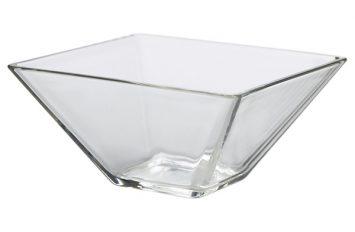 Square Glass Bowl 14 x 7cm H