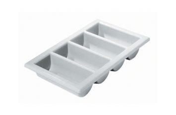 """Cutlery Tray/Box 1/1 13"""" x 21"""" Grey"""