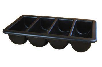 """Cutlery Tray/Box 1/1 Black 13"""" x 21"""""""