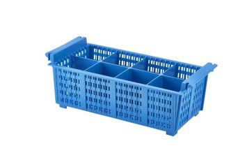 8 Compartment Cutlery Basket (Blue)430x210x155mm