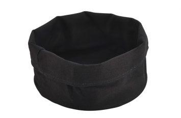 Black Cotton Bread Bag 20(Ø)X14cm(H)