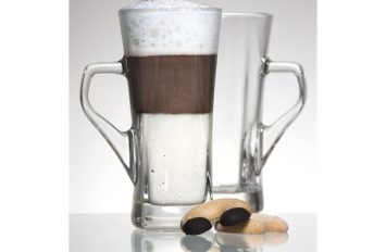 Genware 'Geo' Tall Coffee Glass 33.5cl / 12oz