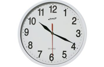Kitchen Clock White 24cm Dia