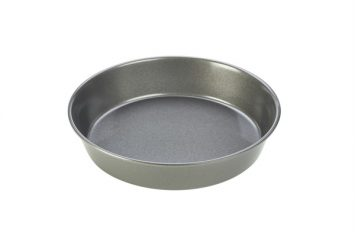 Carbon Steel Non-Stick Round Shallow Cake/Pie Dish 23x5cm