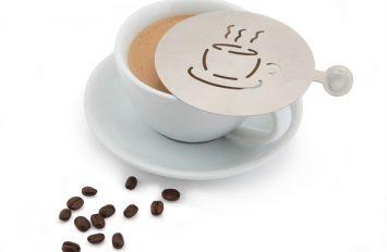 Genware St/st. Coffee Stencil Cup Design