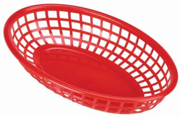 Fast Food Basket Red 23.5x15.4cm