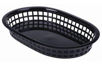Fast Food Basket Black 27.5x17.5cm