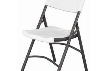 Folding Utility Chair White HDPE