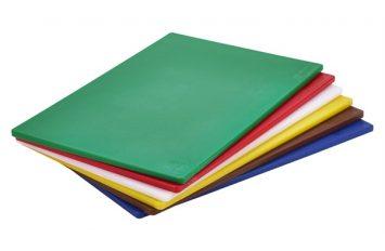 "Green Poly Cutting Board 18 x 12 x 0.5"""