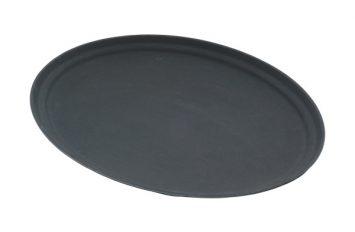 "Gen-Grip 27"" Oval Non-slip Tray Black"