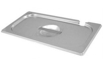 St/St Gastronorm Pan Notched  Lid 1/9