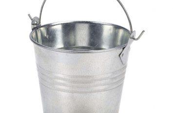Galvanised Steel Serving Bucket 8.5cmØ