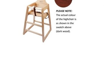 Wooden High Chair - Dark Wood (flat-packed)