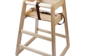 Wooden High Chair - Light Wood (flat-packed)