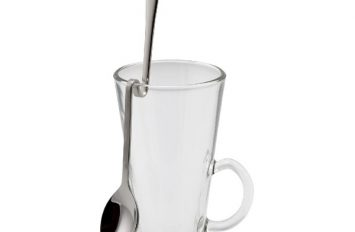 "Hanging Latte Spoon 8"" 18/8 S/St. (dozens)"