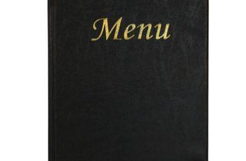 A4 Menu Holder Black 8 Pages