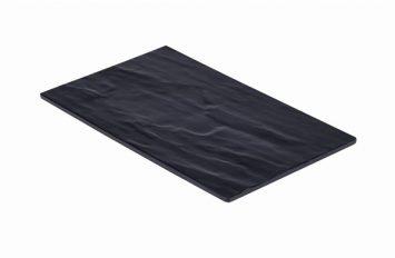 Slate Melamine Platter GN 1/4 Size 26.5x16cm
