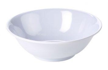 "Genware 6"" Melamine Oatmeal Bowl White"