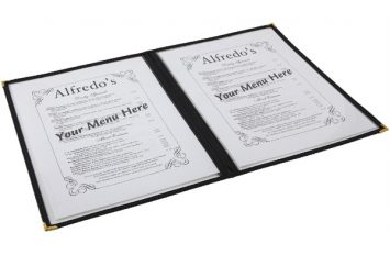 American Style Clear Menu Holder - 2 Page
