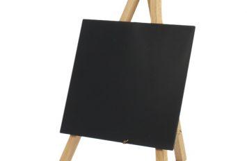 Mini Chalkboard Easel 24 x 11.5cm Wood 3 pieces