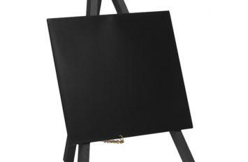 Mini Chalkboard Easel 24 x 11.5cm Black 3 pieces