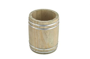 Miniature Wooden Barrel 11.5Ø x 13.5cm
