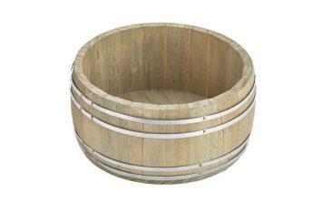 Miniature Wooden Barrel 16.5Ø x 8cm