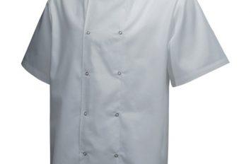 Basic Stud Jacket (Short Sleeve)White - Size Medium