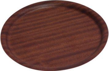 Darkwood Round Tray Non-Slip 270mm dia