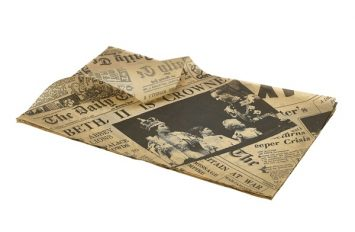 Brown Greaseproof Paper 25X35cm (1000 Shts) Printed