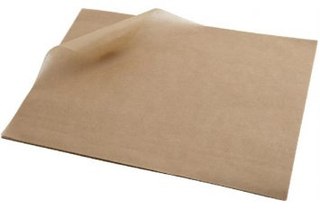 Greaseproof Paper 25 x 20cm (1000 Shts) Brown