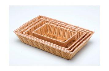 "Rectangular PolyWicker Basket 10""x7""x2.5"""