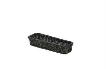 Polywicker Display Basket Black 32x11x5.5cm