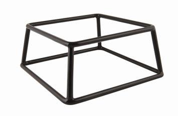 Genware Black Anti-Slip Buffet Riser 18x8cm