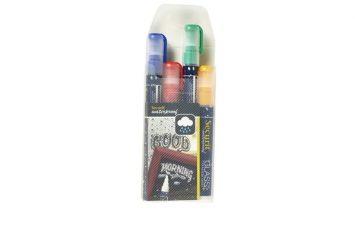 Waterproof Chalk Markers 4 Colour Pack (R, G, W, Bl) Medium