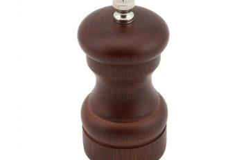 Genware Dark Wood Salt or Pepper Grinder 10cm
