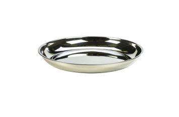 """Stainless Steel Platter 14""""/35cm"""