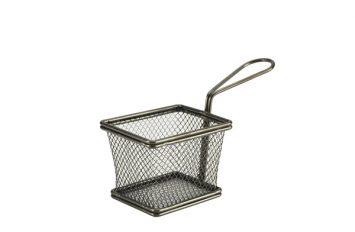 Black Serving Fry Basket 10 x 8 x 7.5cm