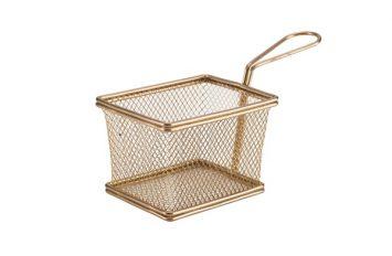 Copper Serving Fry Basket 12.5 x 10 x 8.5cm