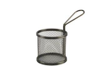 Black Serving Fry Basket 9.3 x 9cm