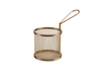 Copper Serving Fry Basket 9.3 x 9cm