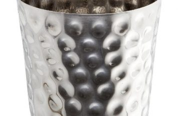 S/St Serving Cup Hammered 8.5x8.3cm