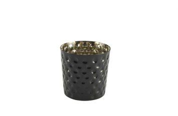 S/St. Serving Cup Hammered 8.5 x 8.5cm Black