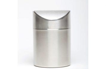 S/St Table Bin 16.5cm high x 11.5cm dia