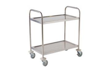 Fully Welded S/St. Trolley - 2 Shelves