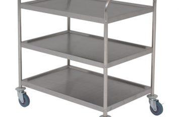 Fully Welded S/St. Trolley - 3 Shelves