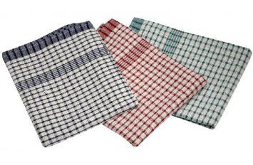 Check T-Towel 47 x 70cm (10pcs assorted colours)