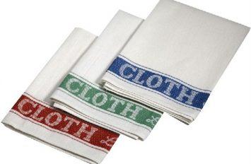 Linen Union Glass Cloth 50 x 76cm (5pcs assorted colours)
